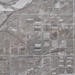 昭和22年米軍撮影の鈴鹿海軍工廠跡