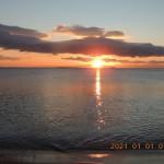 江島海岸初日の出
